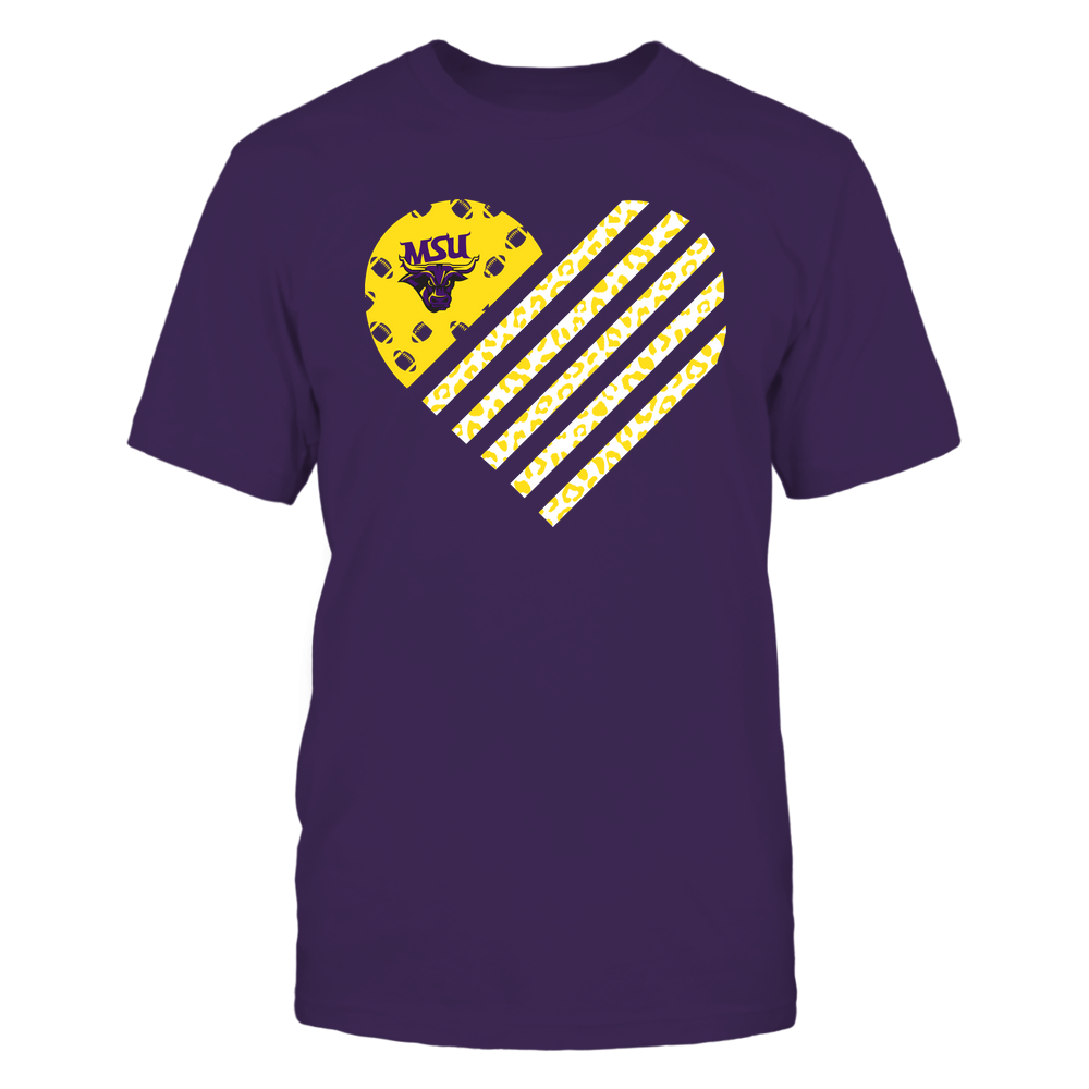 Minnesota State Mavericks - Football - Leopard Flag - Heart Front picture
