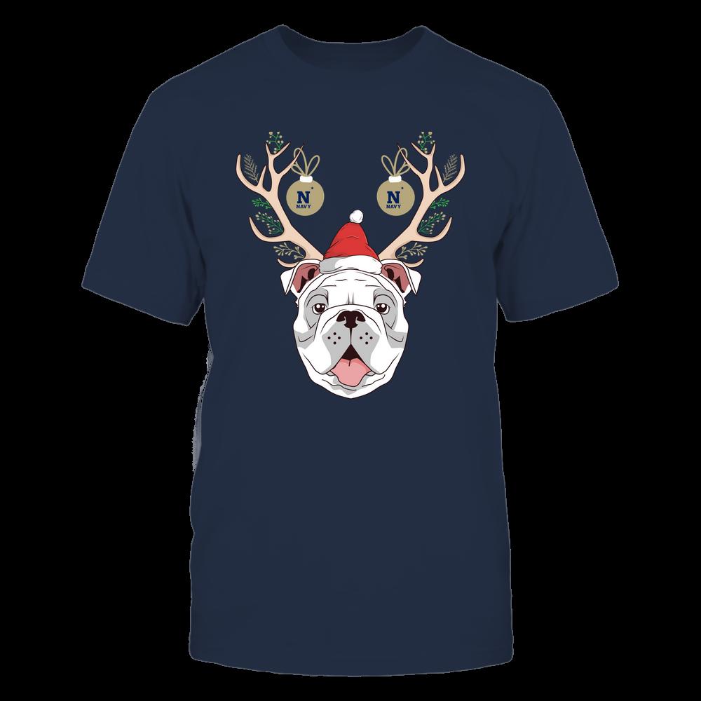 Navy Midshipmen - Christmas - Bulldog Deer - Team Front picture
