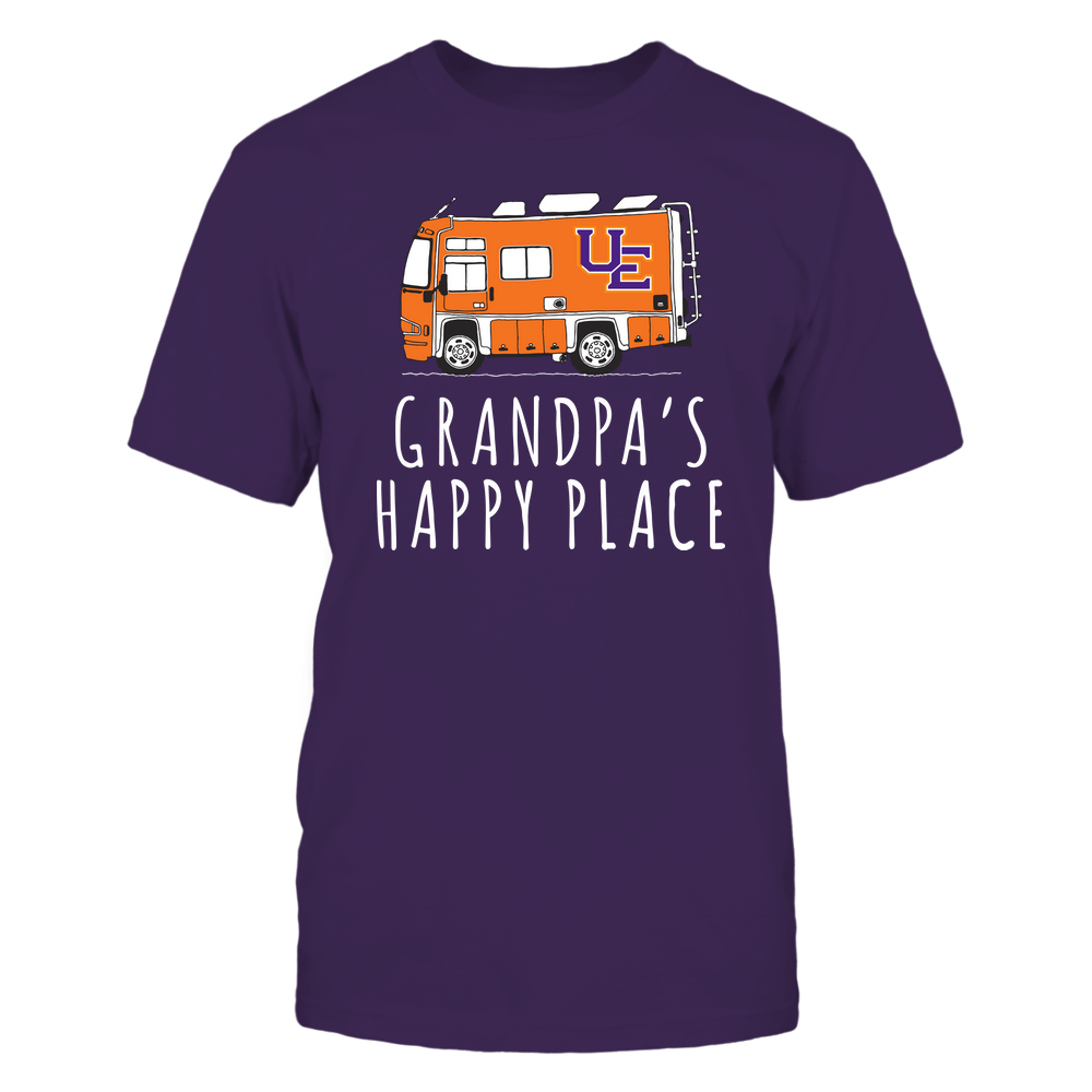 Evansville Purple Aces - Camping - Grandpa's Happy Place - Team Front picture