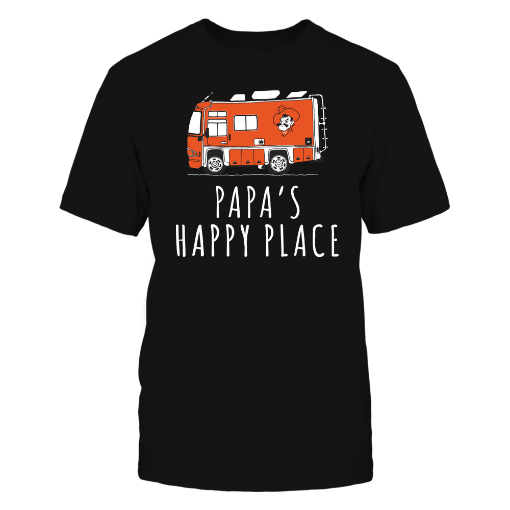 Oklahoma State Cowboys - Camping - Papa's Happy Place - Team Front picture