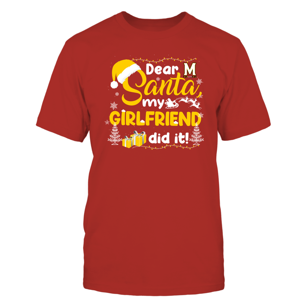 Maryland Terrapins - Christmas - Dear Santa My Girlfriend Did It - Team Front picture