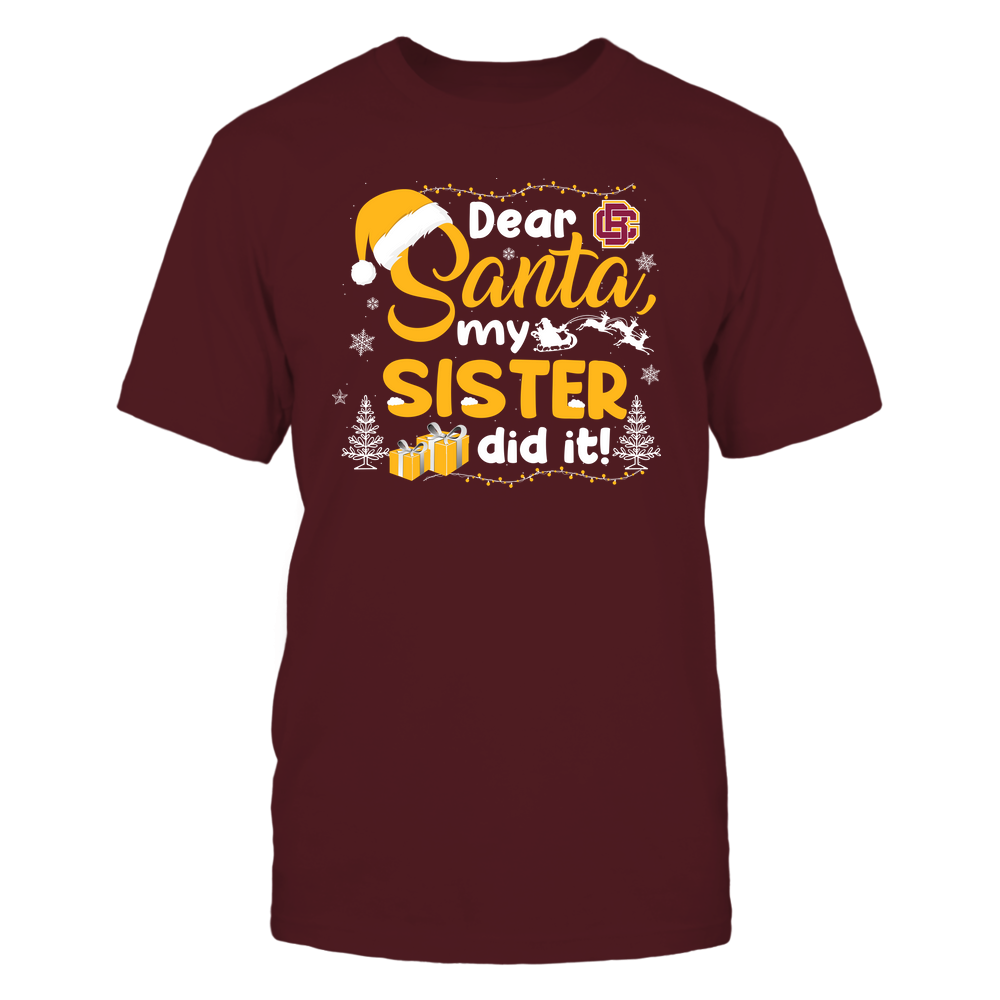 Bethune-Cookman Wildcats - Christmas - Dear Santa My Sister Did It - Team Front picture