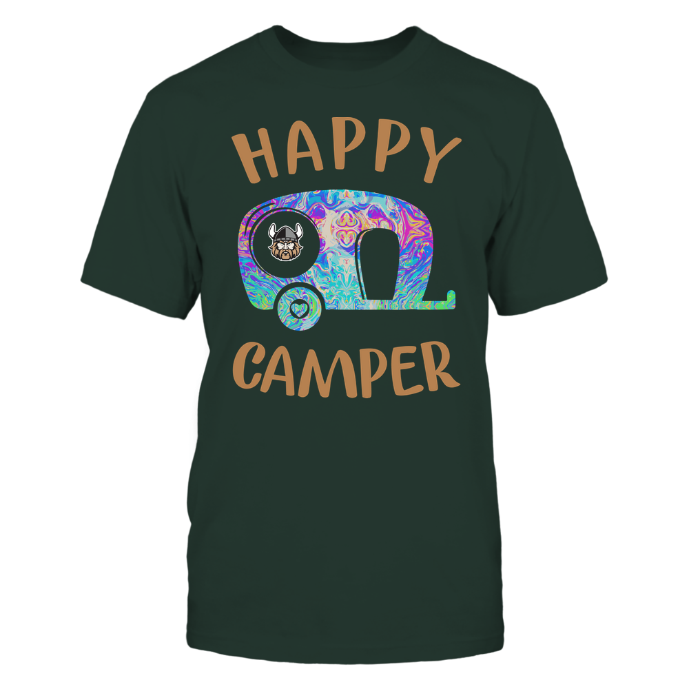 Cleveland State Vikings - Camping - Rainbow Swirl Pattern - Camping Car Front picture