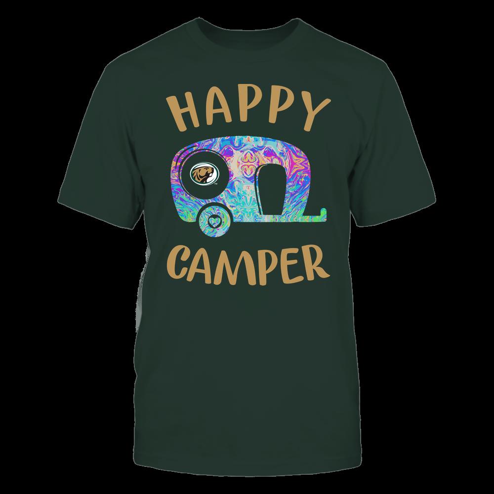 Bemidji State Beavers - Camping - Rainbow Swirl Pattern - Camping Car Front picture