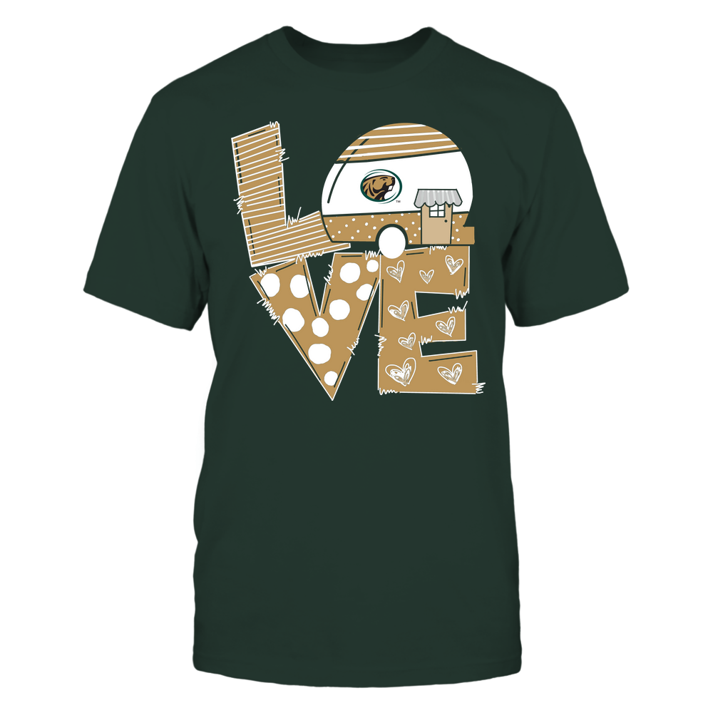 Bemidji State Beavers - Camping - Stacked Love Camping Car - Hand Drawn Pattern Front picture