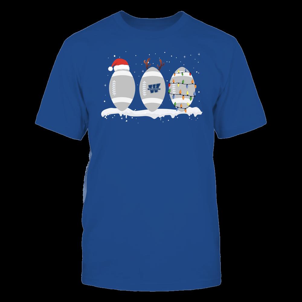 Washburn Ichabods - Christmas - Three Footballs - Team Front picture