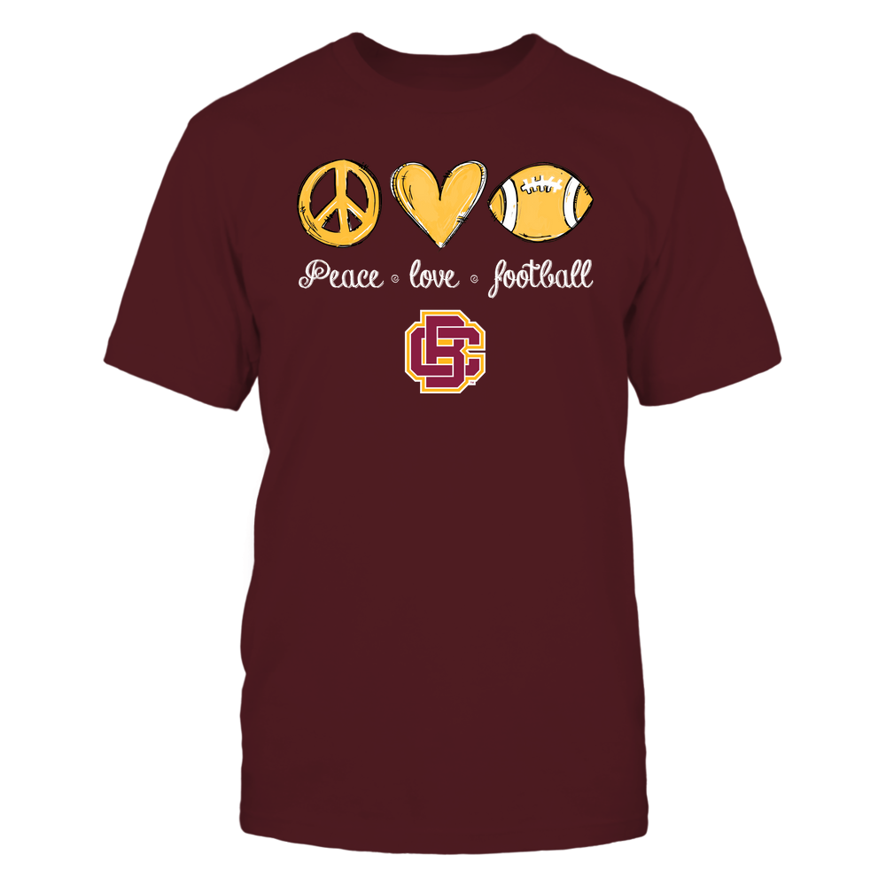 Bethune-Cookman Wildcats - Peace Love Football - Hand Drawn - Team Front picture