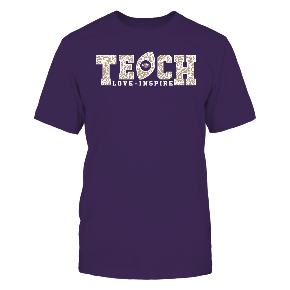 North Alabama Lions - Teach Love Inspire - Paisley Pattern Football Front picture