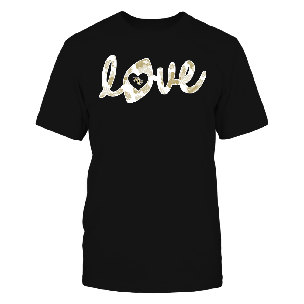 UCF Knights - Football - Love Lowercase - Tropical Pattern Front picture