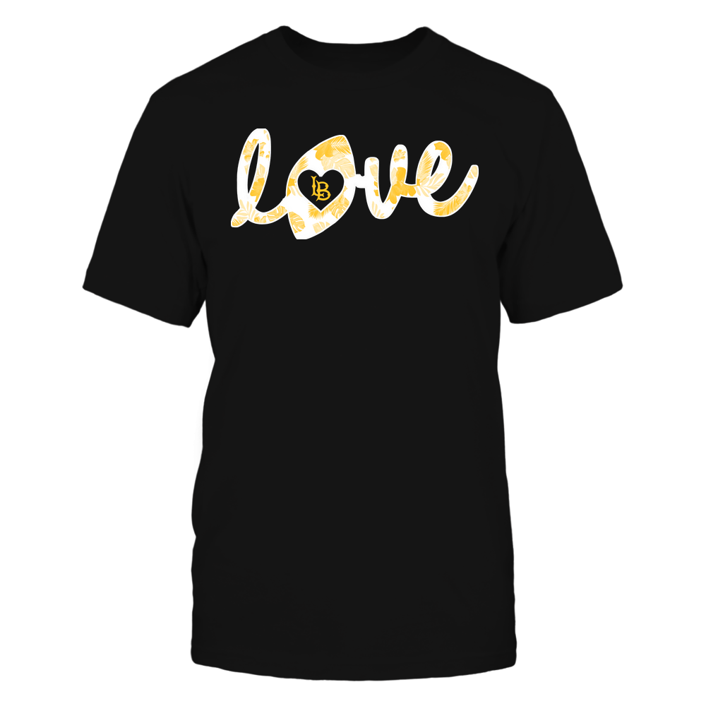 Long Beach State 49ers - Football - Love Lowercase - Tropical Pattern Front picture