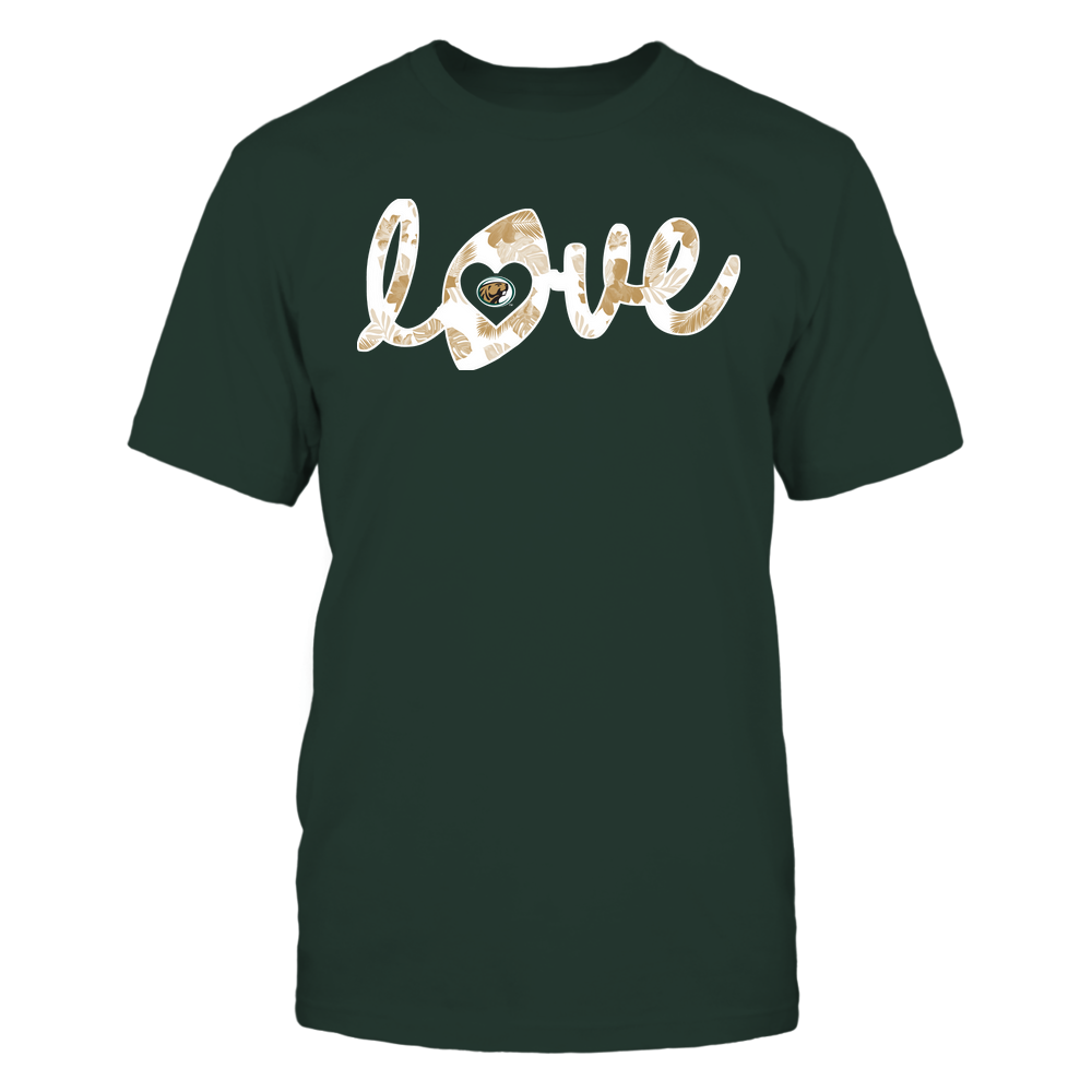Bemidji State Beavers - Football - Love Lowercase - Tropical Pattern Front picture