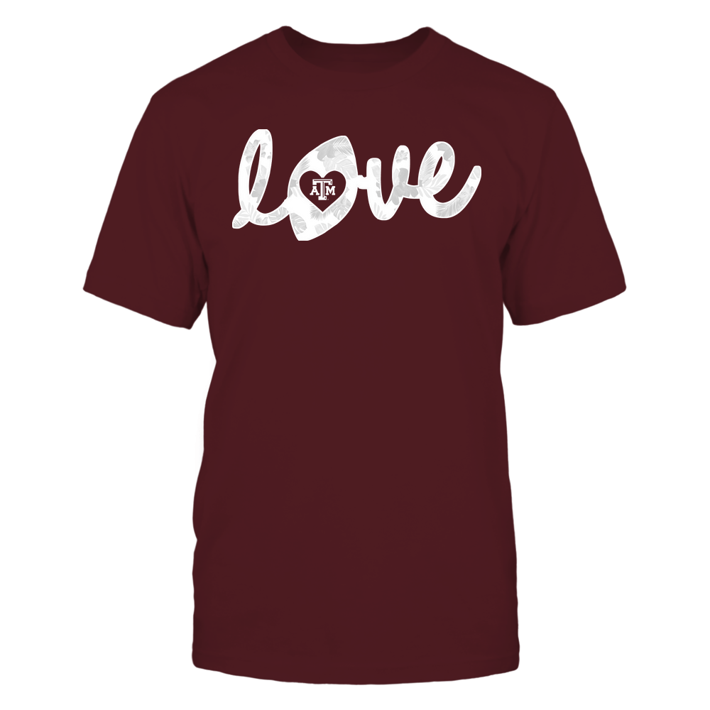 Texas A&M Aggies - Football - Love Lowercase - Tropical Pattern Front picture