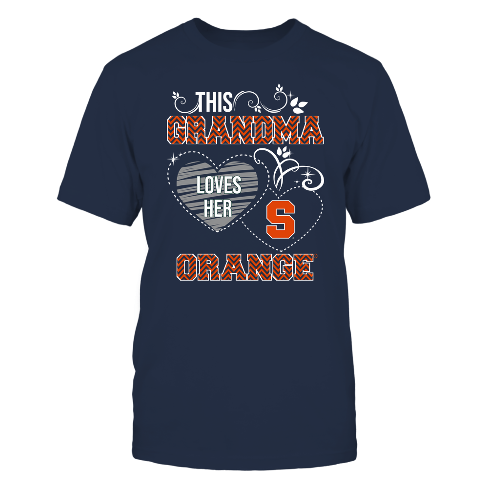 Syracuse Orange - This Grandma Loves Team - Mascot - Chevron Pattern Front picture