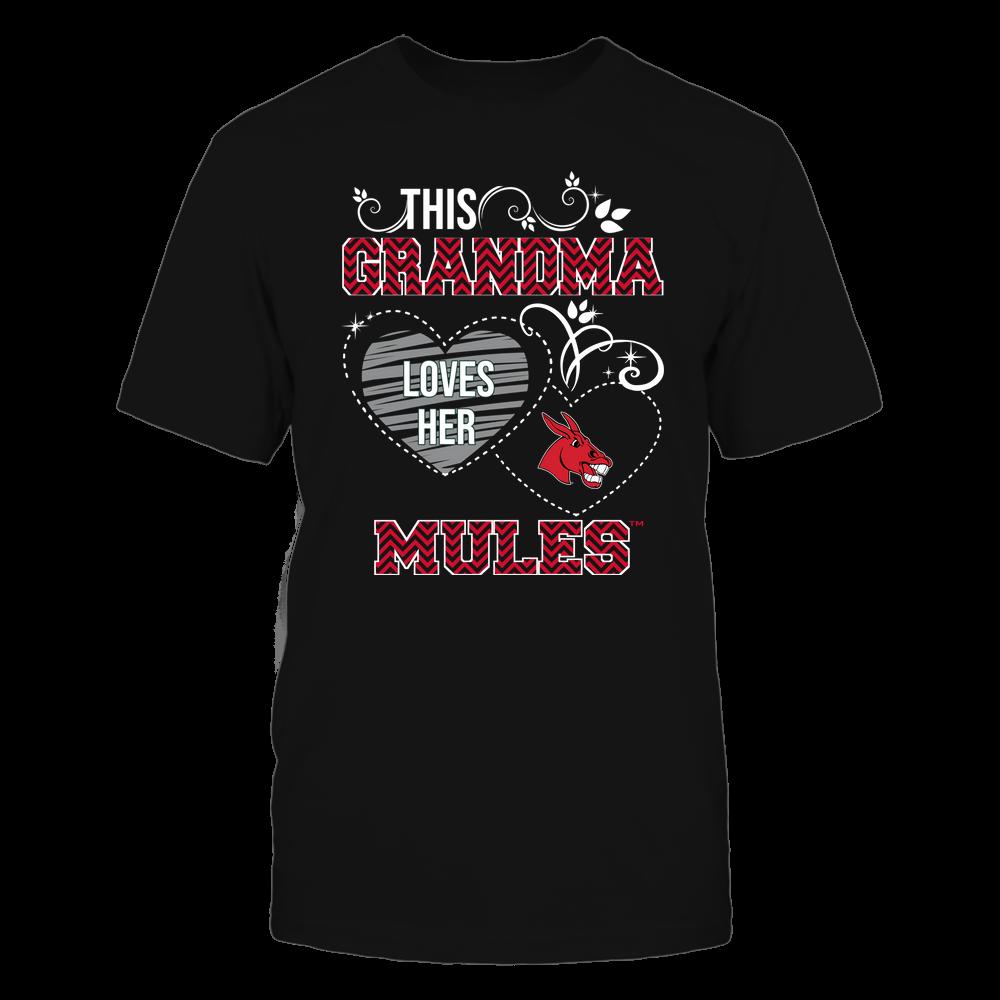Central Missouri Mules - This Grandma Loves Team - Mascot - Chevron Pattern Front picture