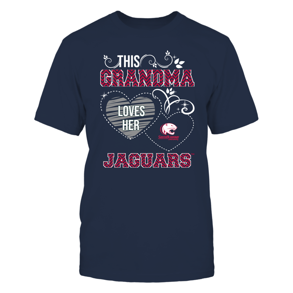 South Alabama Jaguars - This Grandma Loves Team - Mascot - Chevron Pattern Front picture