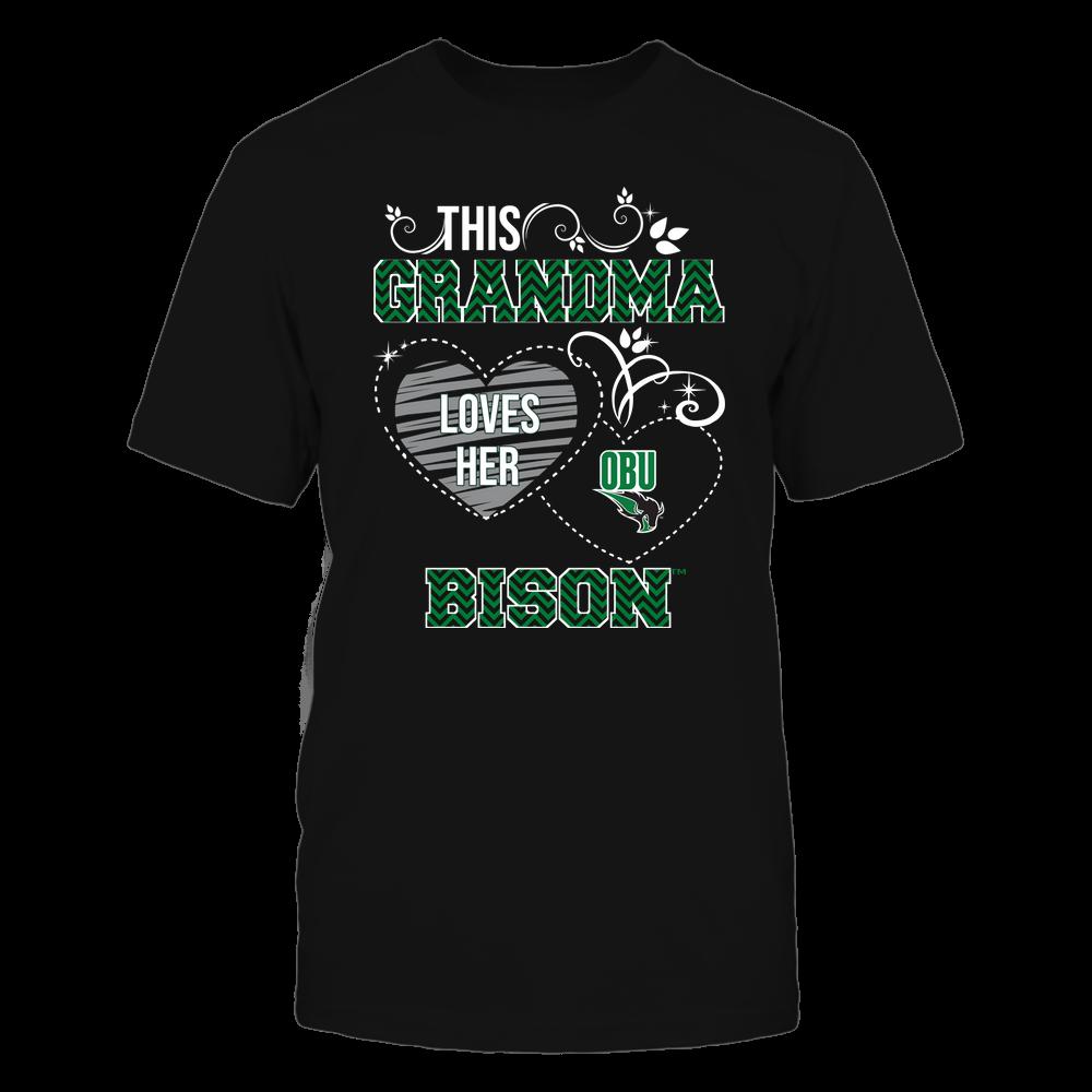 Oklahoma Baptist Bison - This Grandma Loves Team - Mascot - Chevron Pattern Front picture