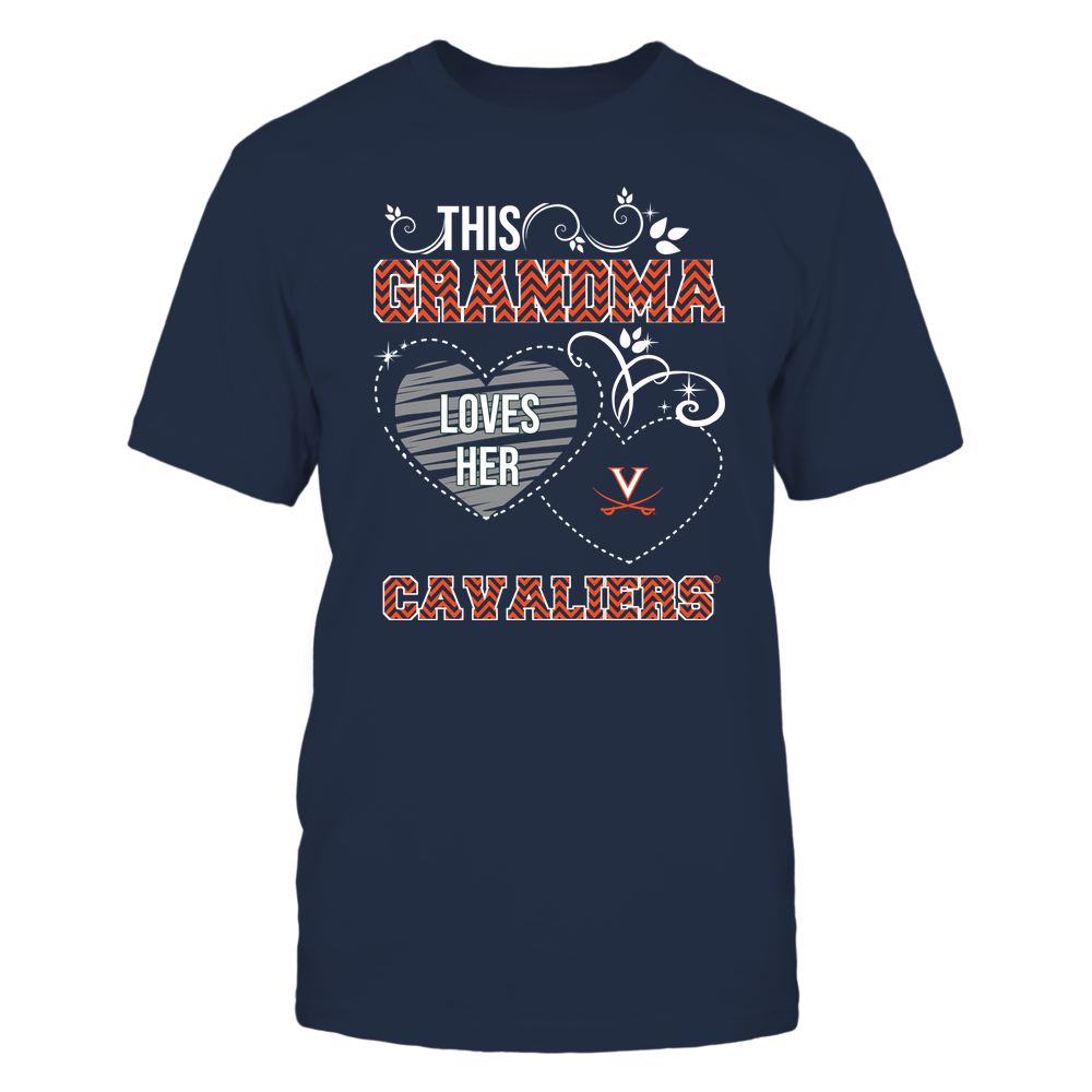 Virginia Cavaliers - This Grandma Loves Team - Mascot - Chevron Pattern Front picture