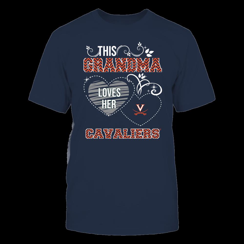 Virginia Cavaliers - This Grandma Loves Team - Mascot - Chevron Pattern Front picture