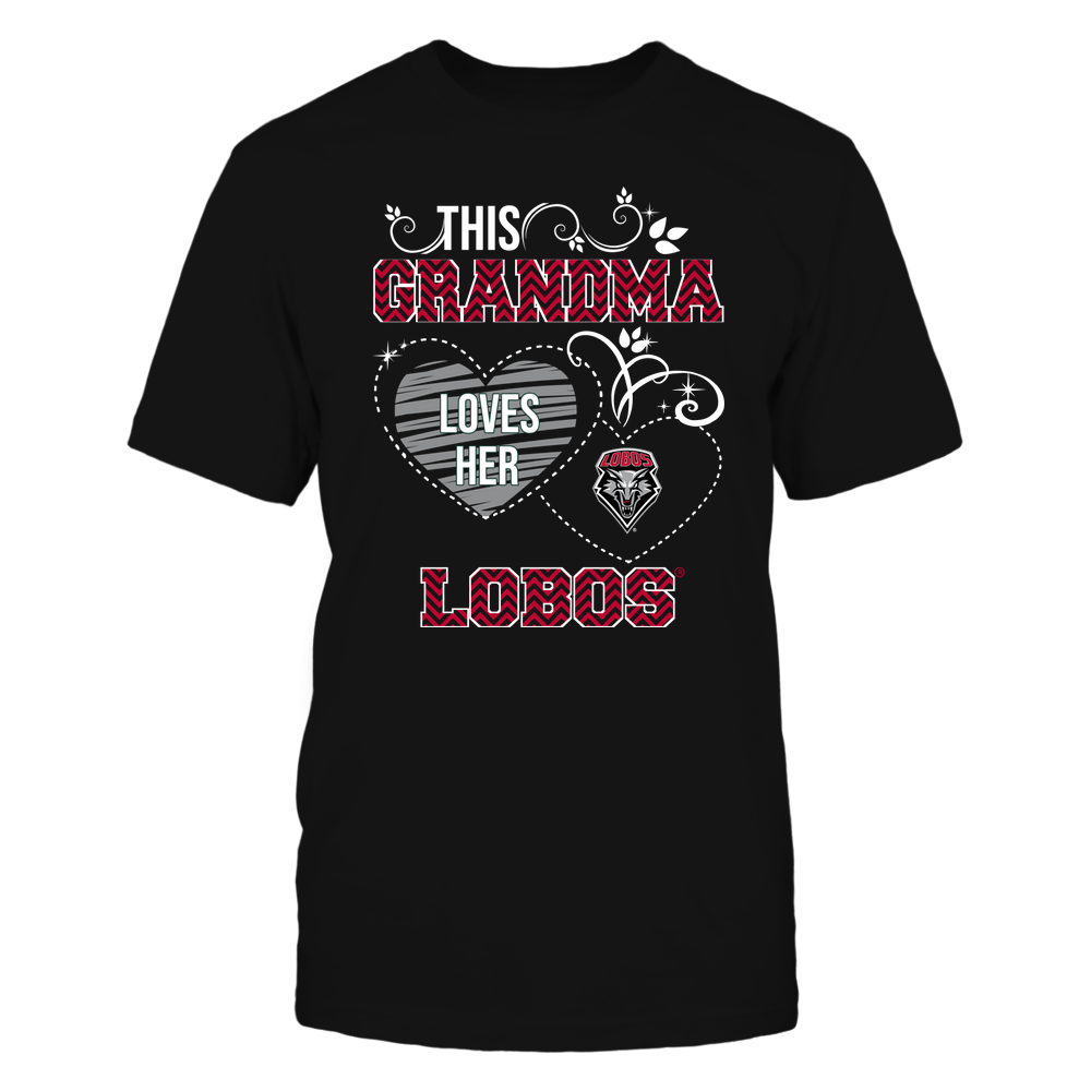 New Mexico Lobos - This Grandma Loves Team - Mascot - Chevron Pattern Front picture