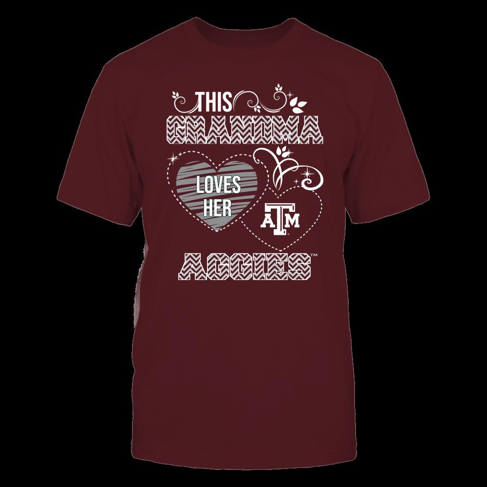 Texas A&M Aggies - This Grandma Loves Team - Mascot - Chevron Pattern Front picture