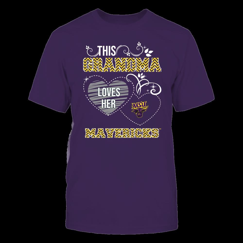 Minnesota State Mavericks - This Grandma Loves Team - Mascot - Chevron Pattern Front picture