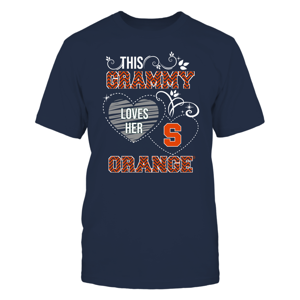 Syracuse Orange - This Grammy Loves Team - Mascot - Chevron Pattern Front picture