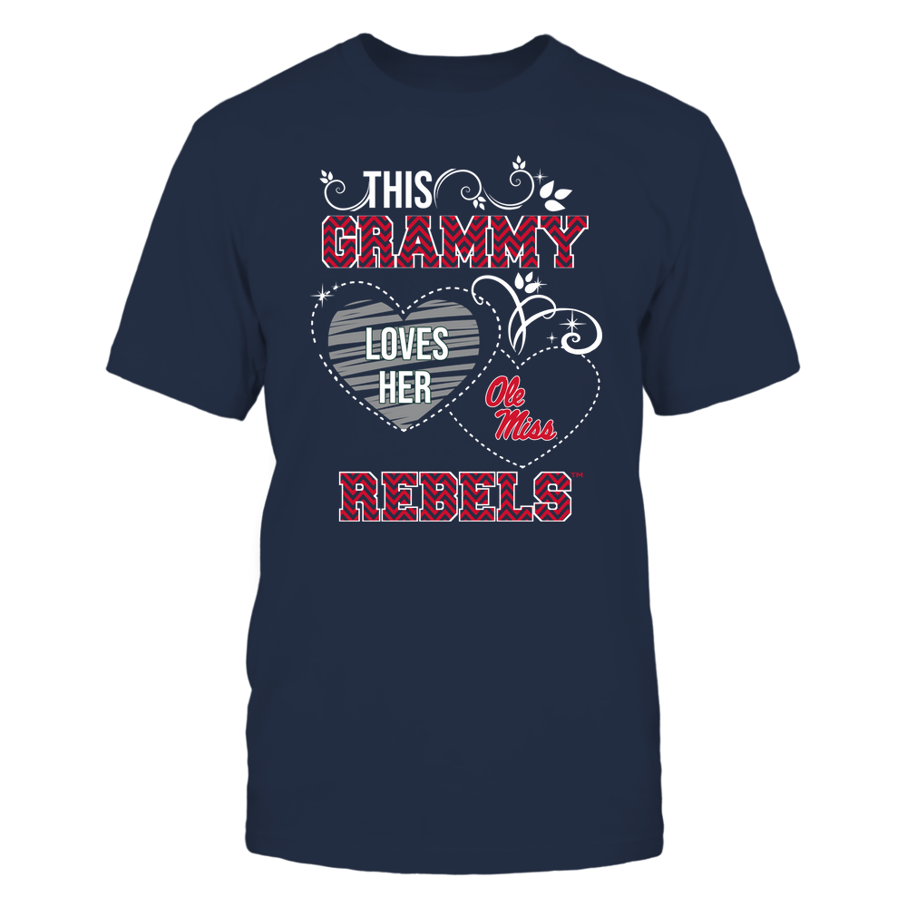 Ole Miss Rebels - This Grammy Loves Team - Mascot - Chevron Pattern Front picture