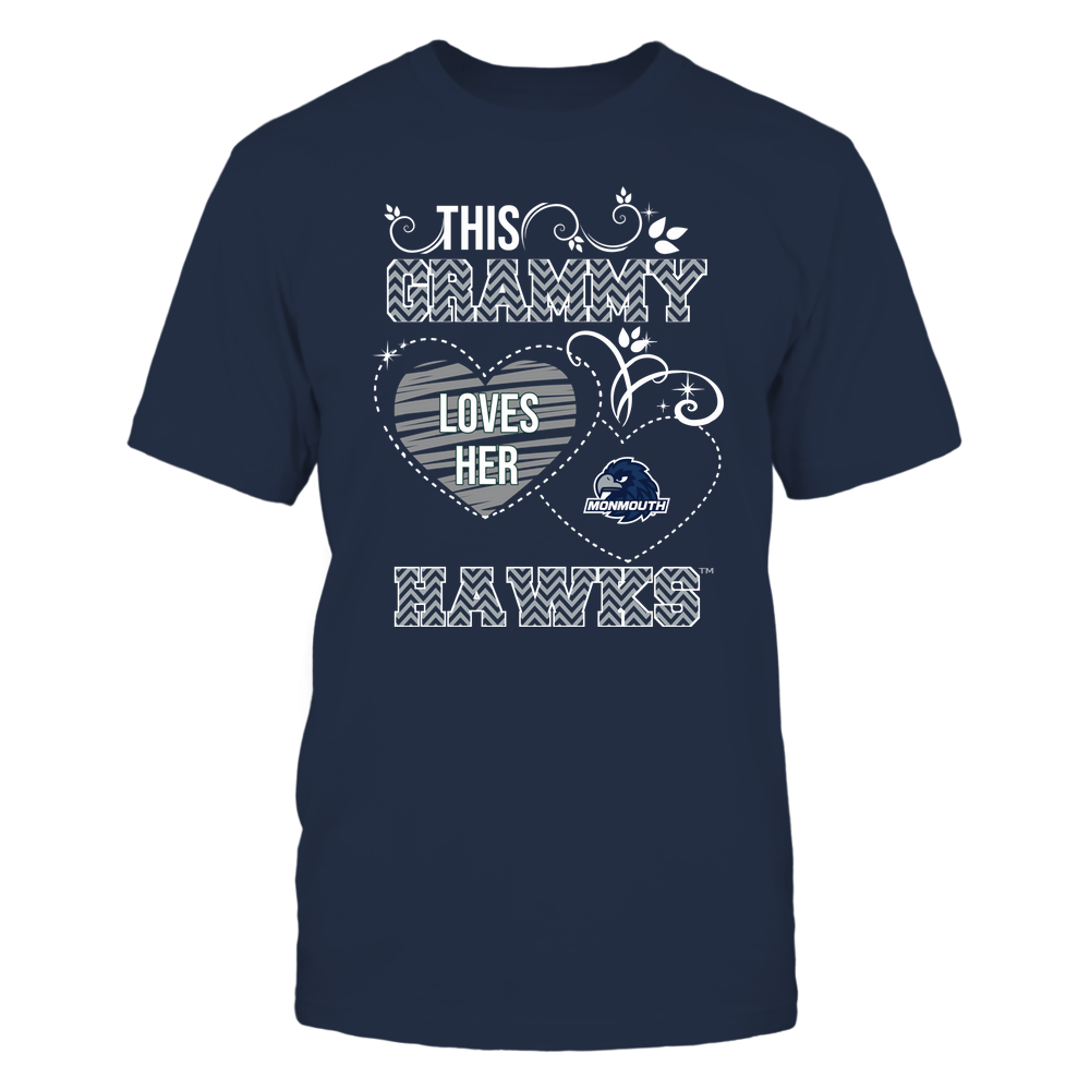 Monmouth Hawks - This Grammy Loves Team - Mascot - Chevron Pattern Front picture