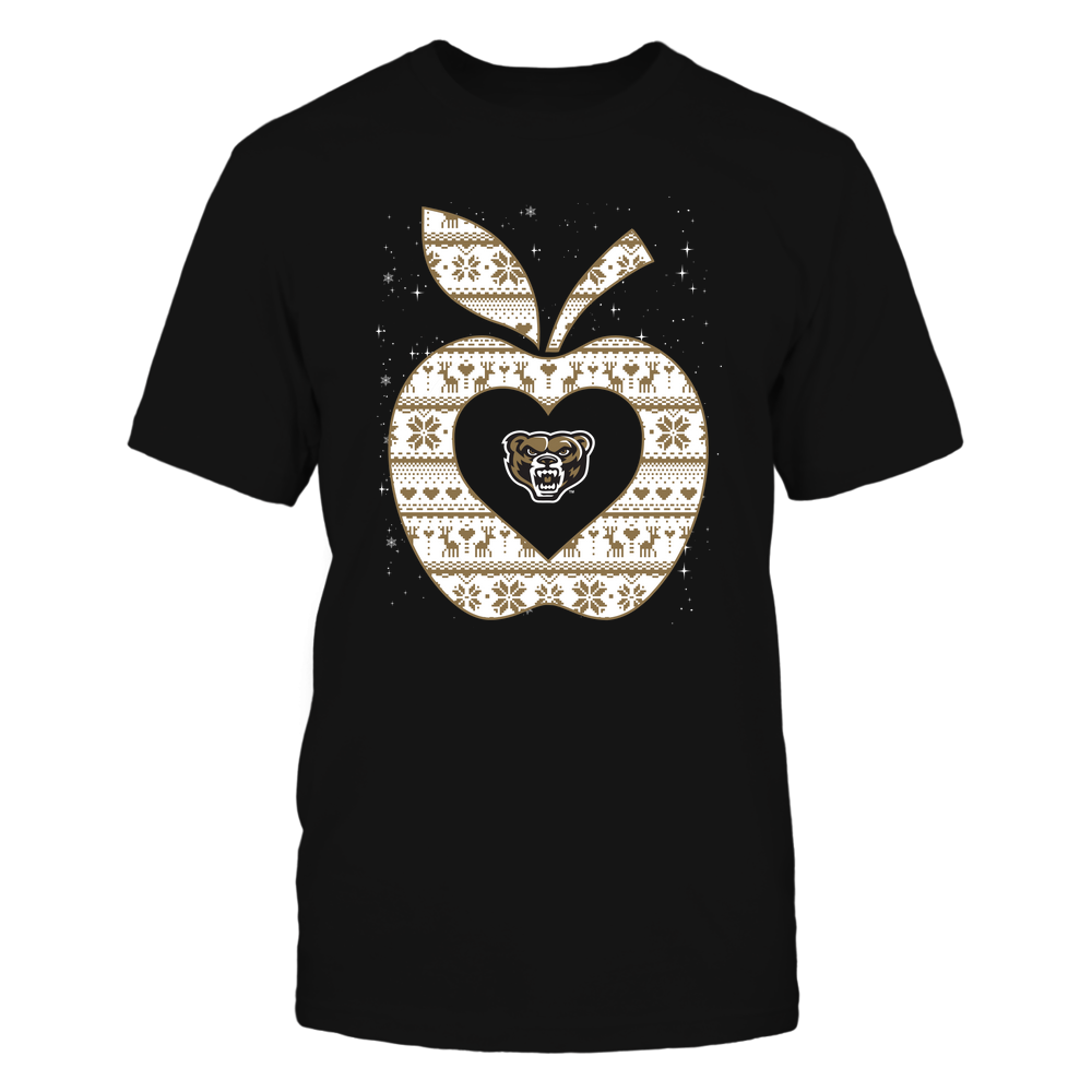 Oakland Golden Grizzlies - Christmas ^ Teacher ^ Ugly Sweater ^ Apple Front picture