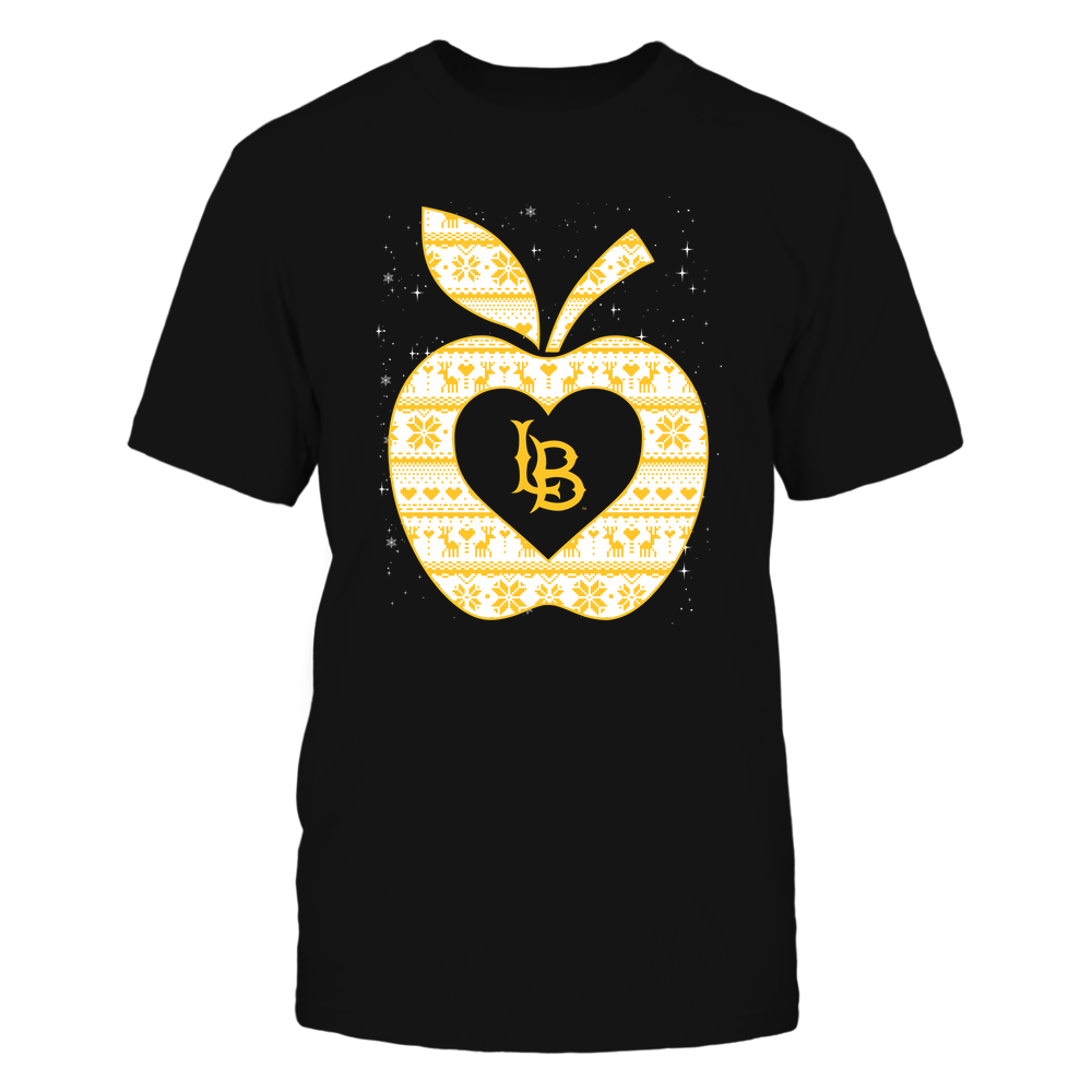 Long Beach State 49ers - Christmas ^ Teacher ^ Ugly Sweater ^ Apple Front picture