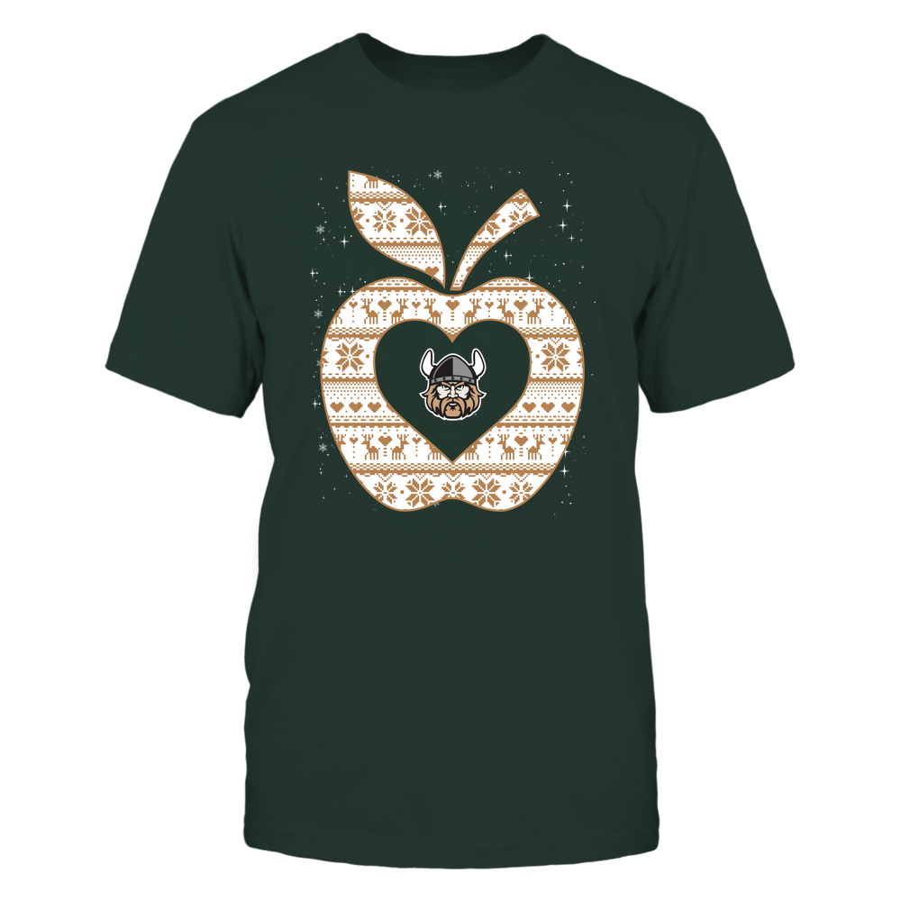 Cleveland State Vikings - Christmas ^ Teacher ^ Ugly Sweater ^ Apple Front picture