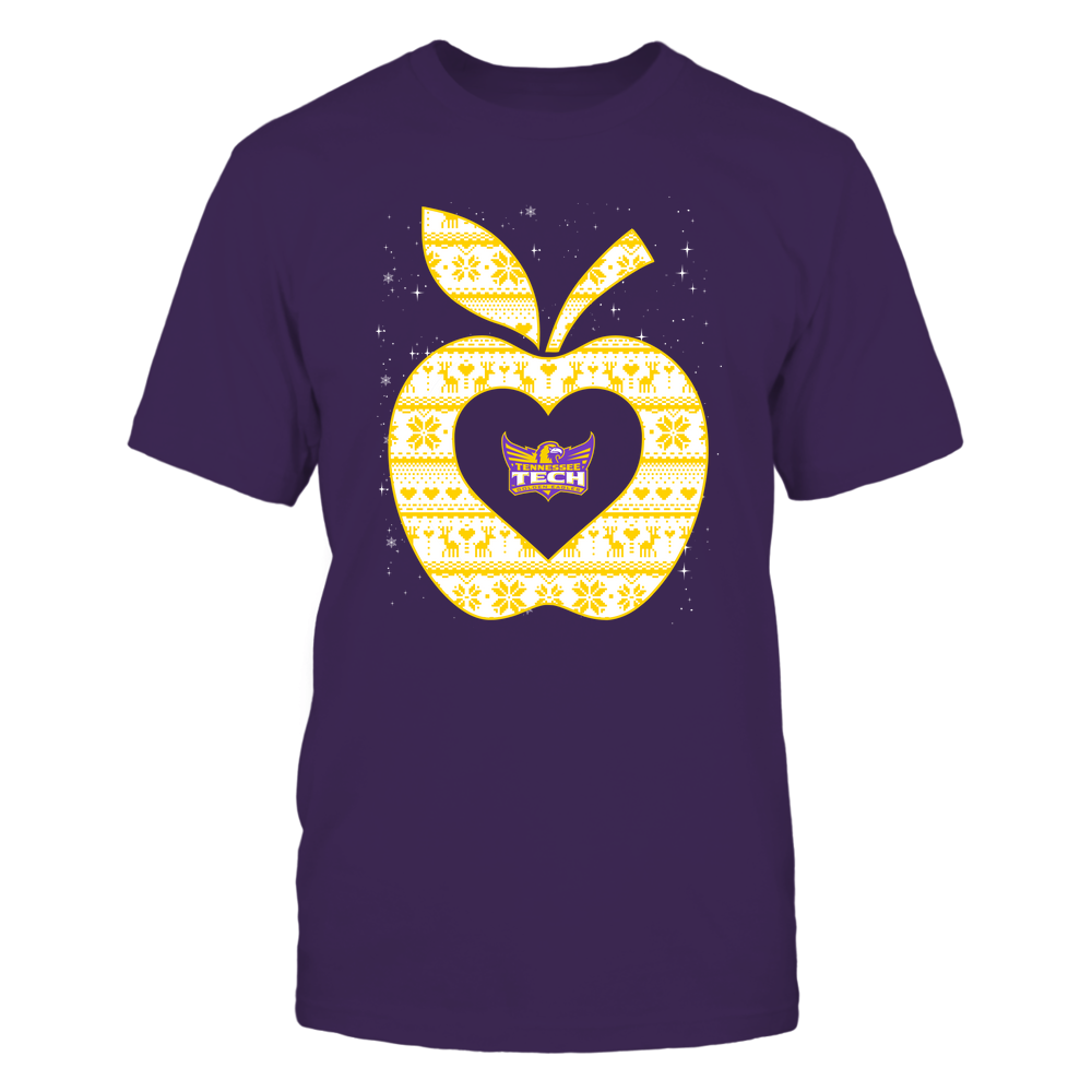 Tennessee Tech Golden Eagles - Christmas ^ Teacher ^ Ugly Sweater ^ Apple Front picture