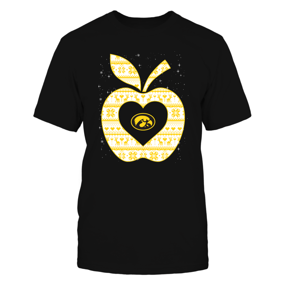 Iowa Hawkeyes - Christmas ^ Teacher ^ Ugly Sweater ^ Apple Front picture