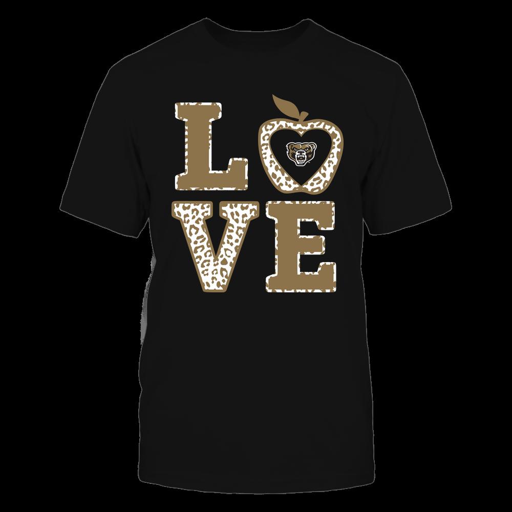 Oakland Golden Grizzlies - Teacher - Stacked Love Leopard Apple Front picture