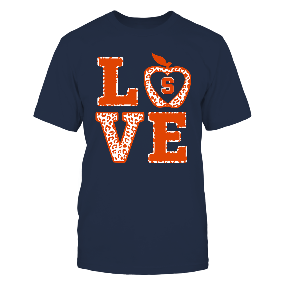 Syracuse Orange - Teacher - Stacked Love Leopard Apple Front picture