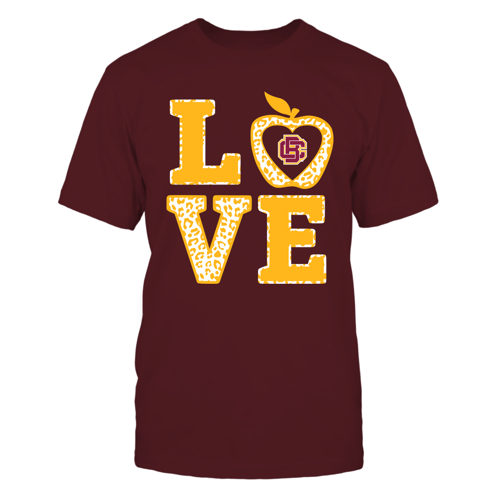 Bethune-Cookman Wildcats - Teacher - Stacked Love Leopard Apple Front picture