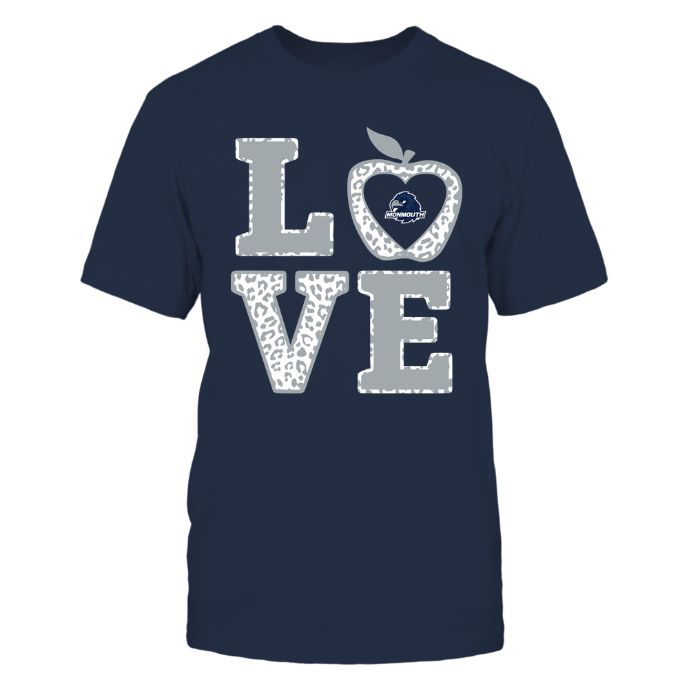 Monmouth Hawks - Teacher - Stacked Love Leopard Apple Front picture