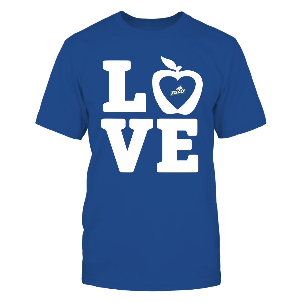Florida Gulf Coast Eagles - Teacher - Stacked Love Leopard Apple Front picture