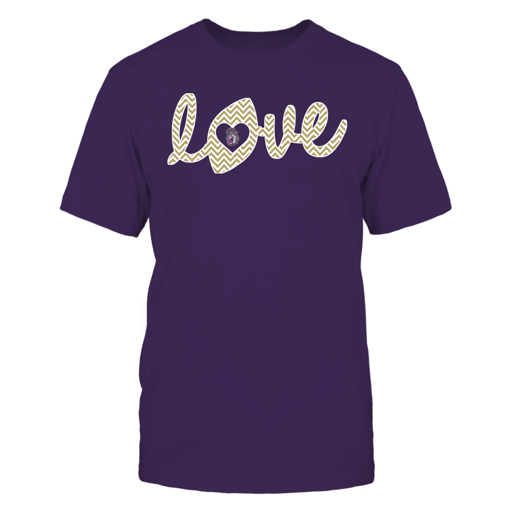 James Madison Dukes - Football - Love Lowercase - Chevron Pattern Front picture