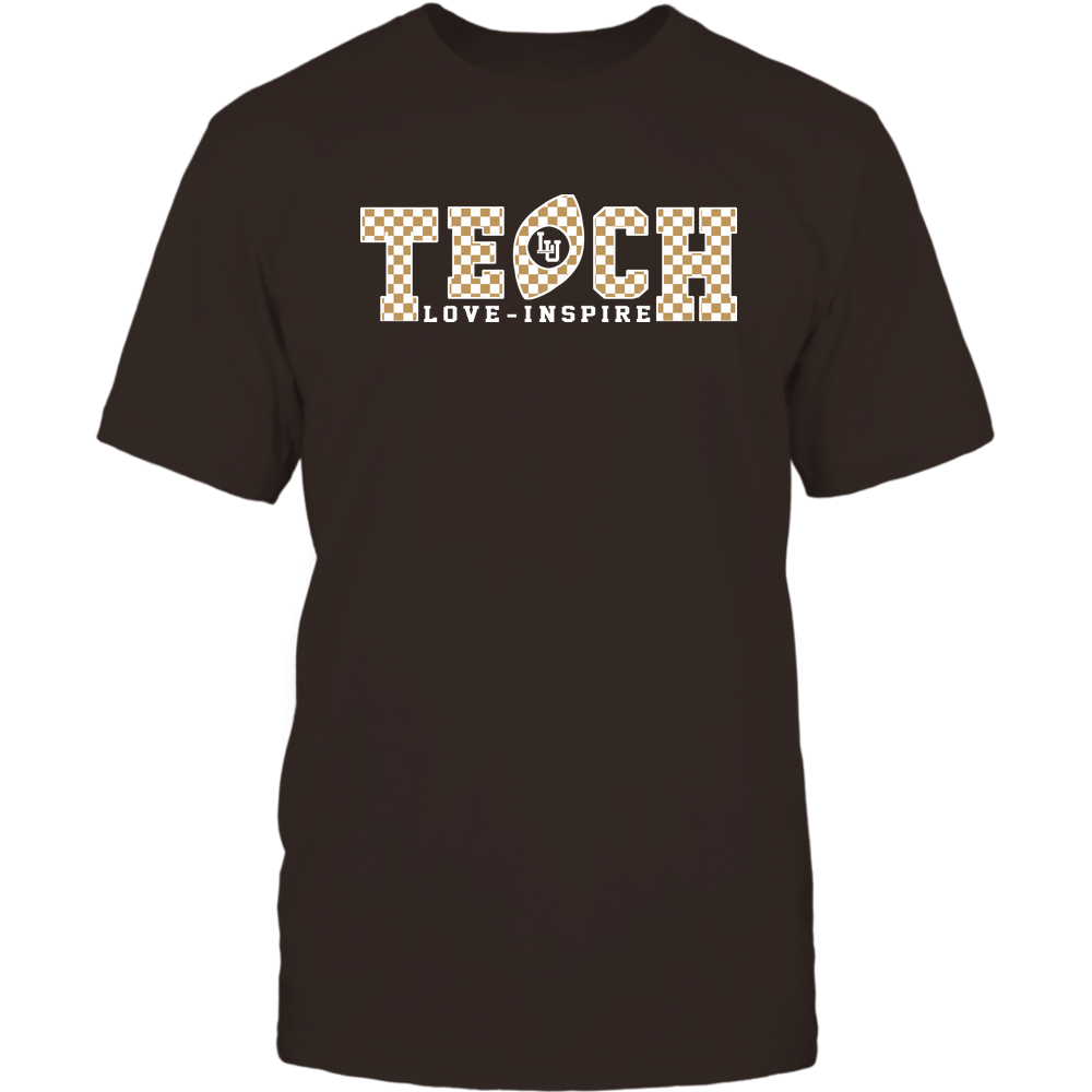 Lehigh Mountain Hawks - Teach Love Inspire - Checkered Pattern Football - Team Front picture