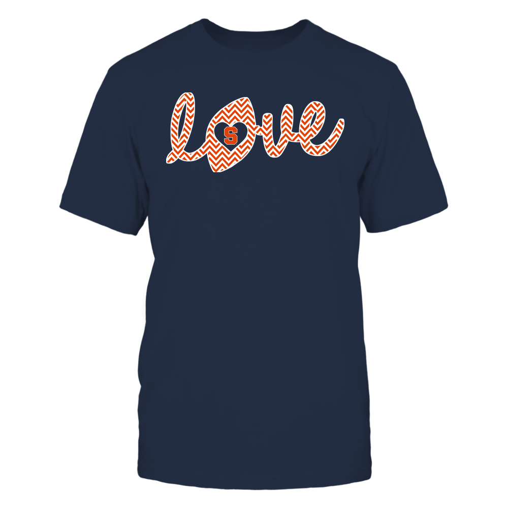 Syracuse Orange - Football - Love Lowercase - Chevron Pattern Front picture
