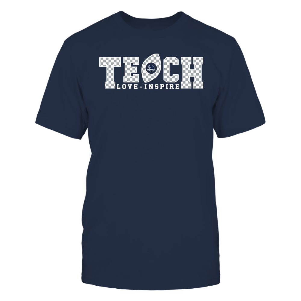 Monmouth Hawks - Teach Love Inspire - Checkered Pattern Football - Team Front picture