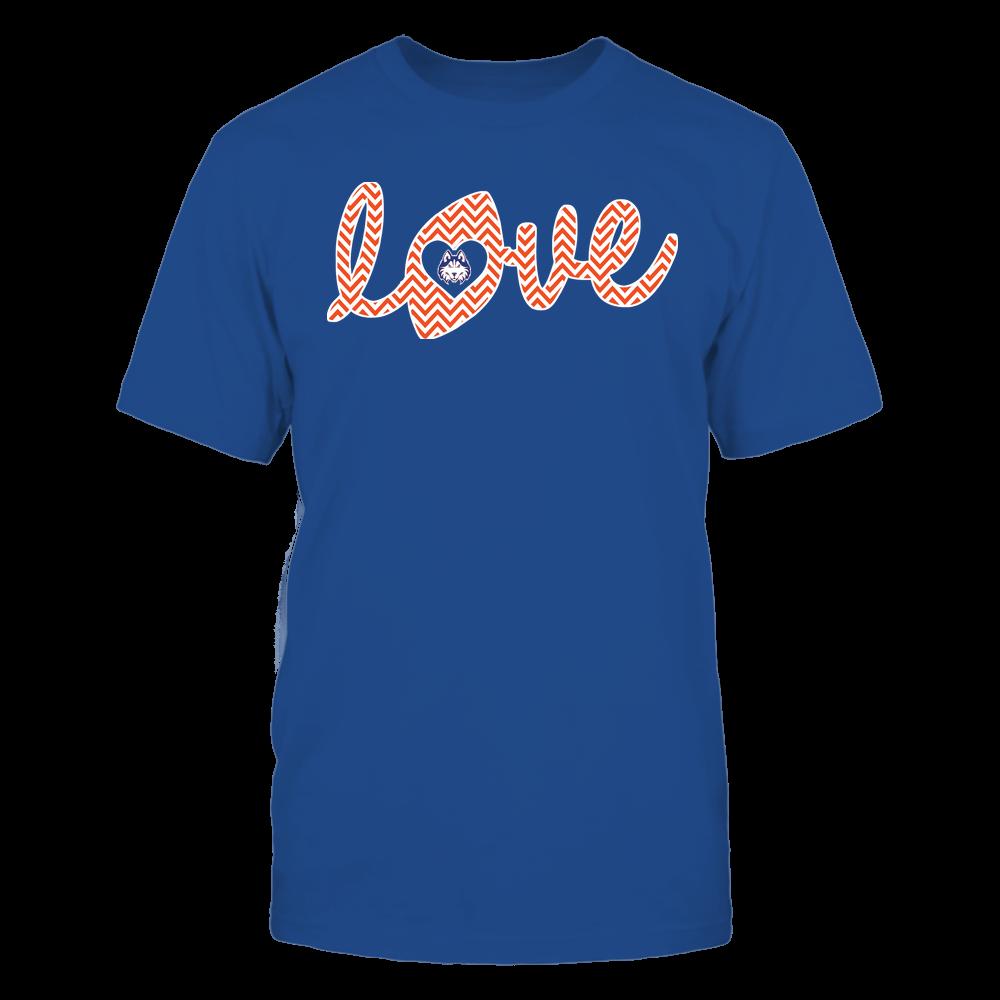 Houston Baptist Huskies - Football - Love Lowercase - Chevron Pattern Front picture
