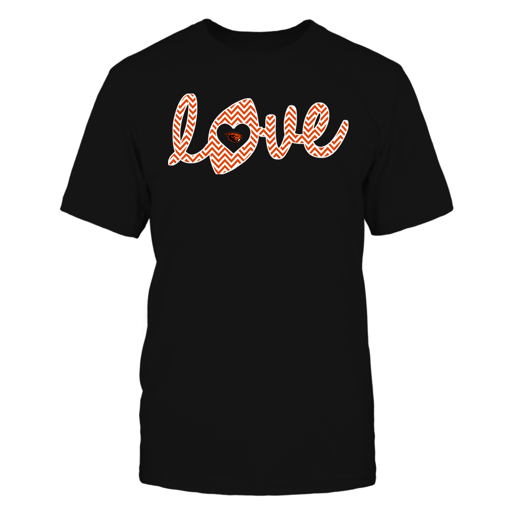 Oregon State Beavers - Football - Love Lowercase - Chevron Pattern Front picture