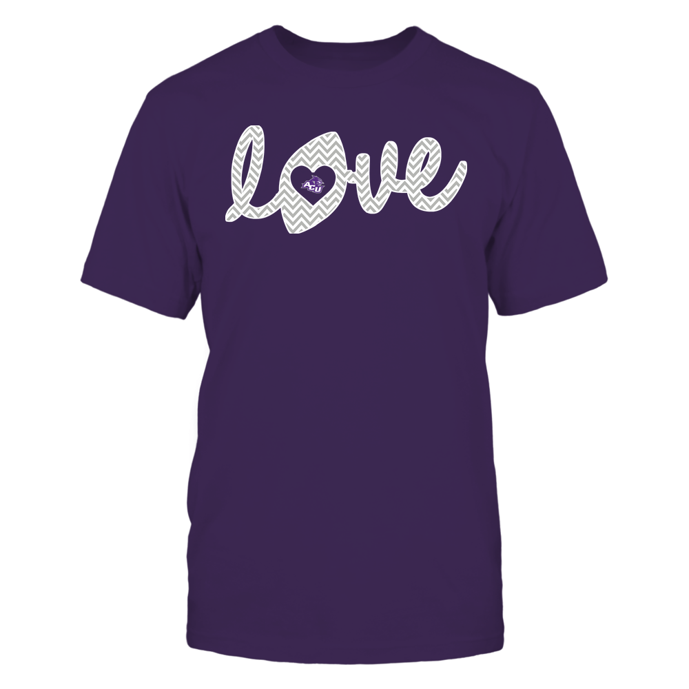 Abilene Christian Wildcats - Football - Love Lowercase - Chevron Pattern Front picture