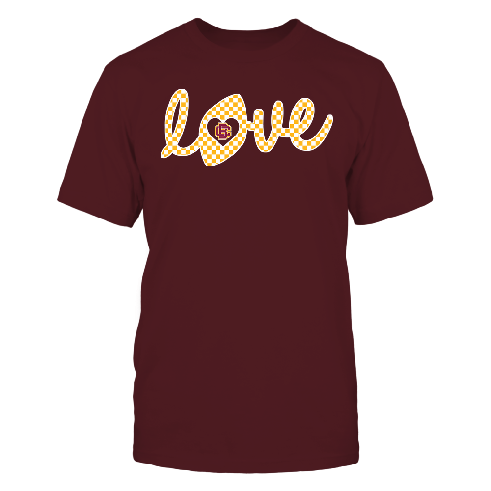 Bethune-Cookman Wildcats - Football - Love Lowercase - Checkered Pattern Front picture