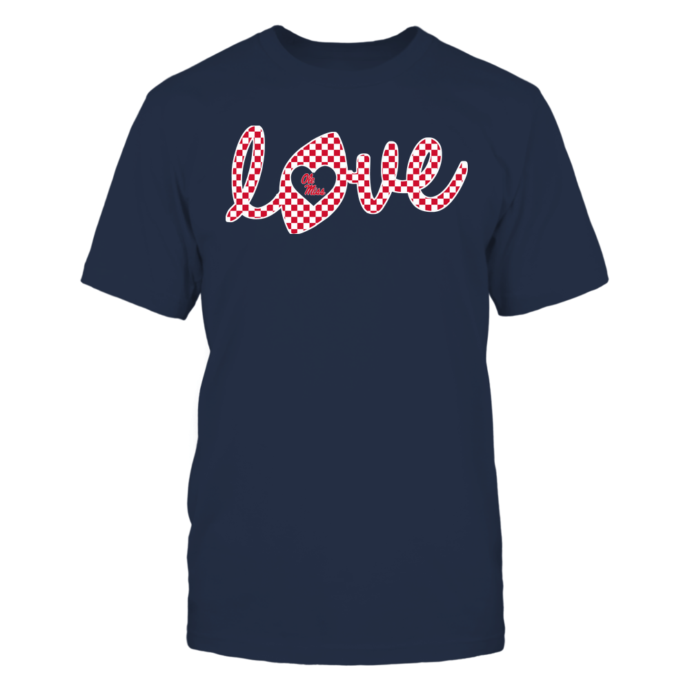 Ole Miss Rebels - Football - Love Lowercase - Checkered Pattern - IF-IC32-DS38 Front picture