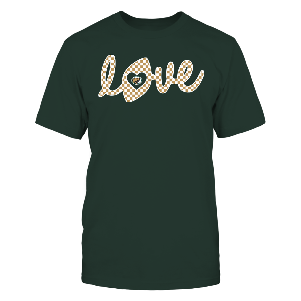 Bemidji State Beavers - Football - Love Lowercase - Checkered Pattern Front picture