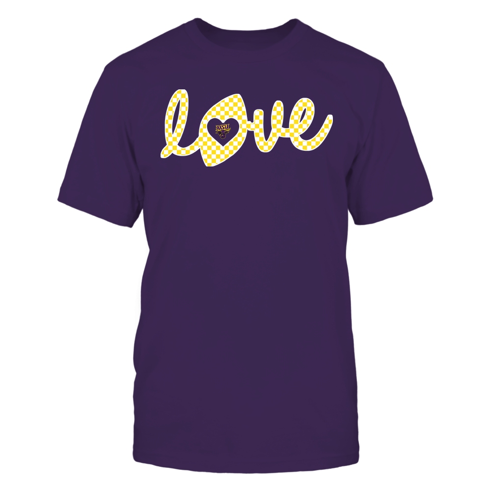 Minnesota State Mavericks - Football - Love Lowercase - Checkered Pattern Front picture