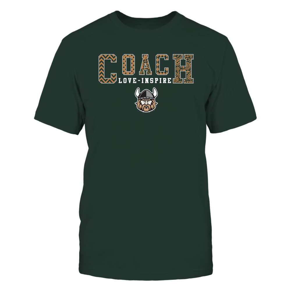 Cleveland State Vikings - Coach Love Inspire - Slogan Patterned - Team Front picture